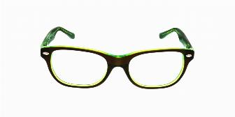 Ray Ban Youth RY1555 3665 Top Brown on Green Fluorescent 48