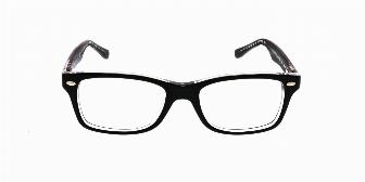 Ray Ban Youth RY1531 3529 Top Black on Transparent 48