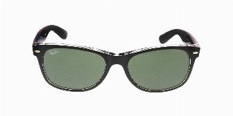 Ray Ban Sun RB2132 6052 Black on Transparent 55