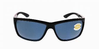 Costa Del Mar Mag Bay Sunglasses AA-11-OGP Shiny BlackGray 580P Polarized