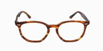 Ray Ban Optical RX7151 5911 Top Trans Red on Havana Orange 50