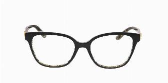 Dolce & Gabbana DG3321 3215 Black on Damasco Glitter Black 52