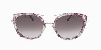 Tom Ford FT0760 56T Shiny Vintage Lilac Havana w. burgundy lenses 56